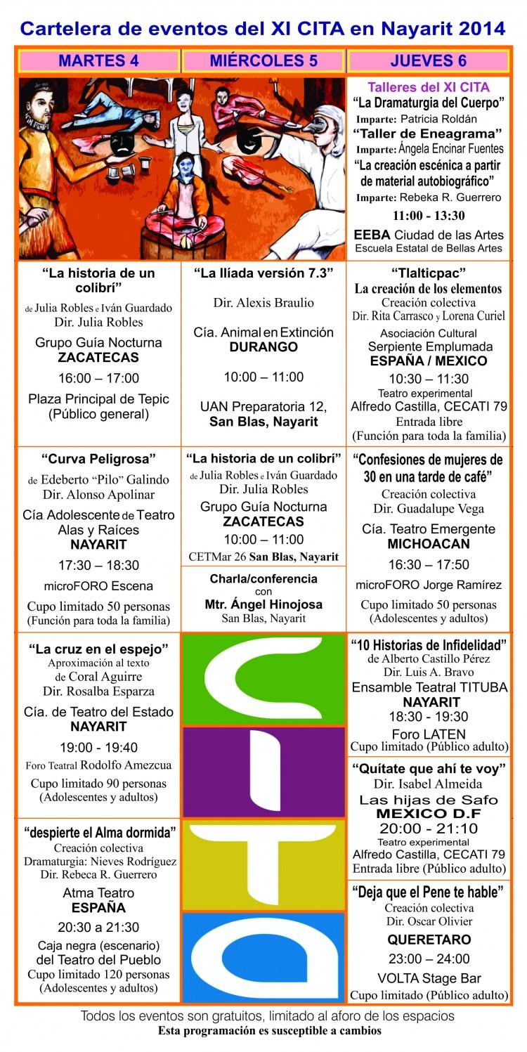Programa cartelera del XI CITA 2014 2a