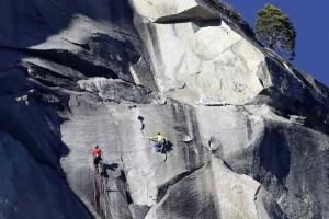 La ascensión a la historia de dos escaladores en la pared de El Capitán