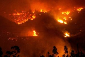 El fuego arrasa gran parte de Chile