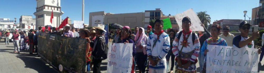 Protesta en Naayrit contra el gasolinazo y las reformas